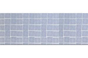 Fehér alapon kék hullámos falvédő