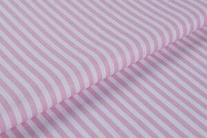 Rózsaszín-fehér csíkos falvédő