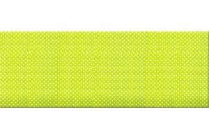 zöld alapon fehér apró pöttyös falvédő