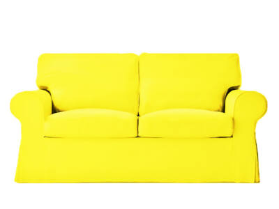 Ektorp kanapé huzat 2 személyes kinyitható (új modell)  -  citromsárga