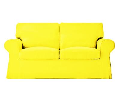 Ektorp kanapé huzat 2 személyes kinyitható (régi modell)  -  citromsárga