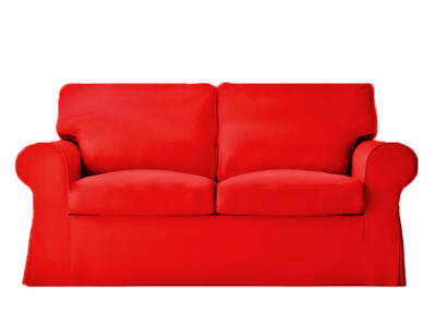 Ektorp kanapé huzat 2 személyes kinyitható (régi modell)  -  piros