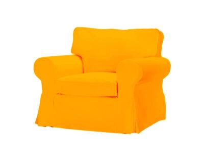 Élénk narancs Ektorp fotel huzat