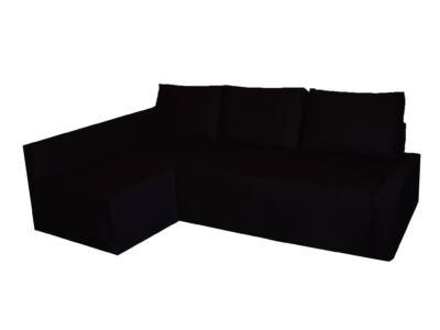 Friheten kanapé huzat - bal oldali - fekete
