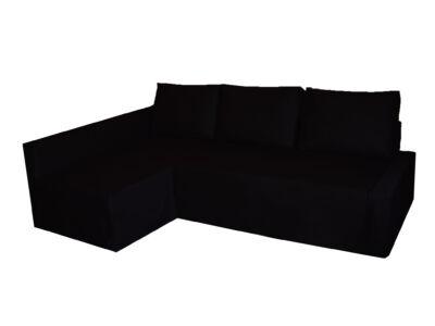 Friheten kanapéhuzat kiegészítő huzattal - bal oldali - fekete