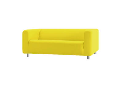 Klippan kanapé huzat 2 személyes  - citromsárga