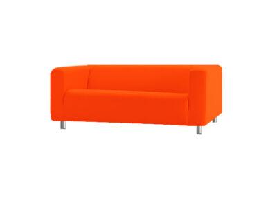 Klippan kanapé huzat 2 személyes - élénk narancs