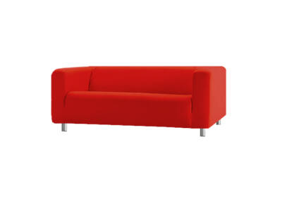 Klippan kanapé huzat 2 személyes - piros