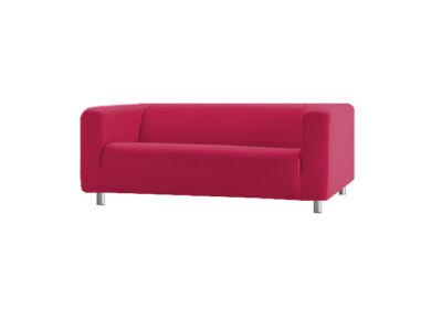 Klippan kanapé huzat 2 személyes - magenta