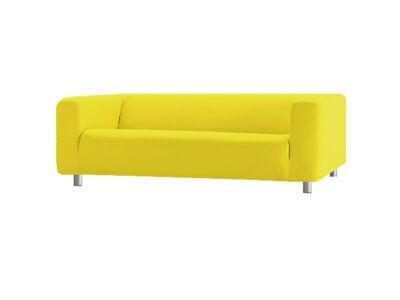 Klippan kanapé huzat 4 személyes  - citromsárga