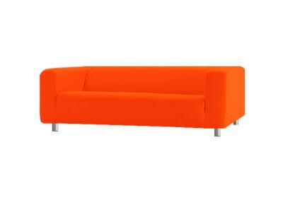 Klippan kanapé huzat 4 személyes - élénk narancs