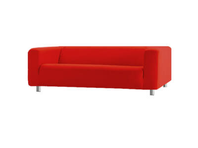 Klippan kanapé huzat 4 személyes - piros