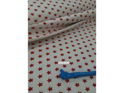 Fehér alapon piros csillagos falvédő