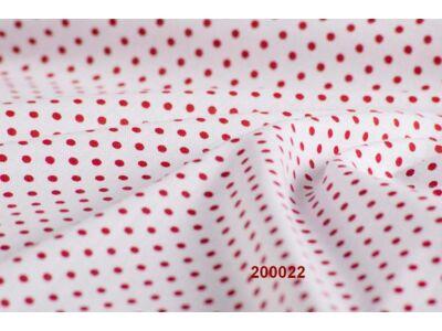 Fehér alapon piros pöttyös falvédő