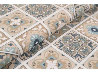 Marokkói mozaik mintás anyagból készült falvédő