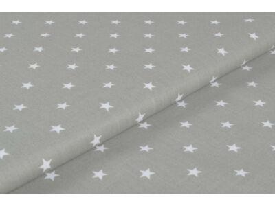 Szürke alapon fehér csillagos anyagból készült falvédő