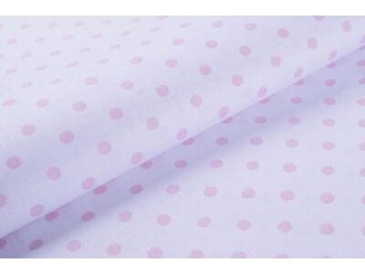 Fehér alapon rózsaszín pöttyös anyagból készült falvédő