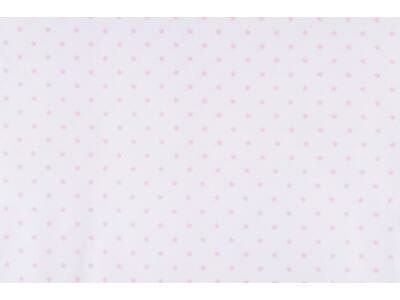 Fehér alapon rózsaszín csillagos anyagból készült falvédő
