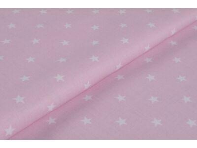 Rózsaszín alapon fehér csillagos anyagból készült falvédő
