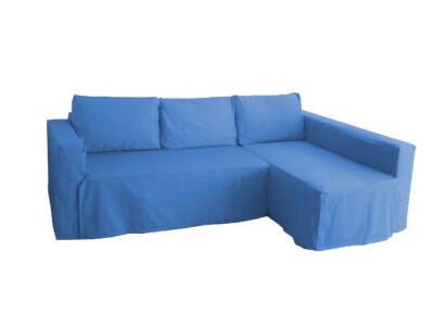 Manstad kanapé huzat jobb oldali ágyneműtartóval - tengerkék
