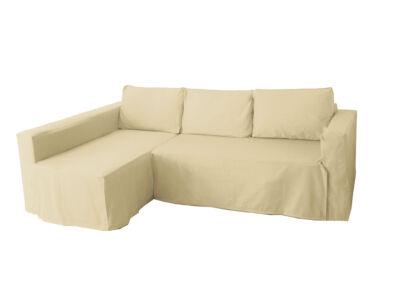 Manstad kanapé huzat bal oldali ágyneműtartóval - bézs