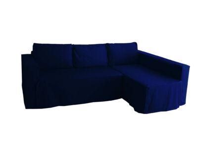 Manstad kanapé huzat jobb oldali ágyneműtartóval - sötétkék