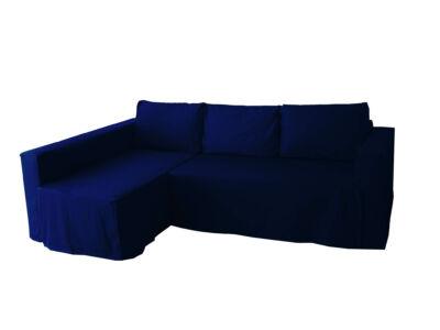 Manstad kanapé huzat bal oldali ágyneműtartóval - sötétkék