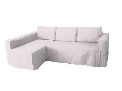 Manstad kanapé huzat bal oldali ágyneműtartóval - törtfehér