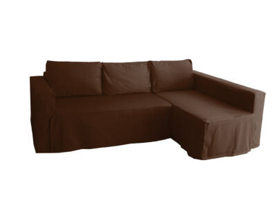 Manstad kanapé huzat jobb oldali ágyneműtartóval - csokoládébarna