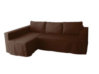 Manstad kanapé huzat bal oldali ágyneműtartóval - csokoládébarna