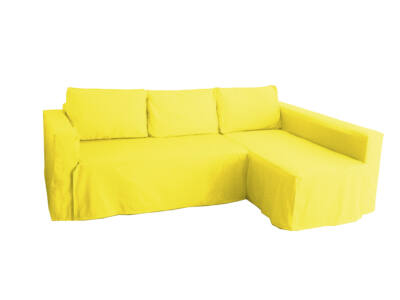 Manstad kanapé huzat jobb oldali ágyneműtartóval - citromsárga
