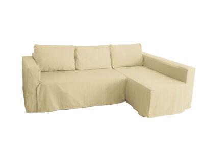 Manstad kanapé huzat jobb oldali ágyneműtartóval - bézs