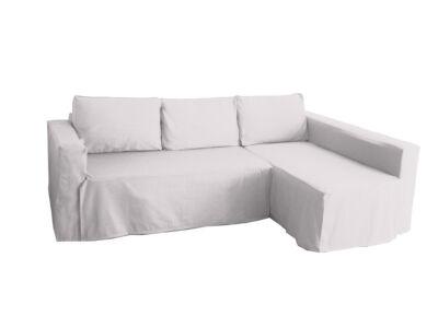 Manstad kanapé huzat jobb oldali ágyneműtartóval - törtfehér