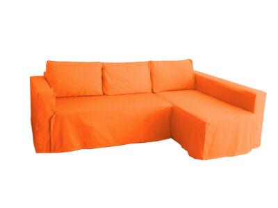 Manstad kanapé huzat jobb oldali ágyneműtartóval - élénk narancs