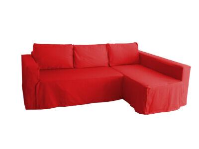 Manstad kanapé huzat jobb oldali ágyneműtartóval - piros