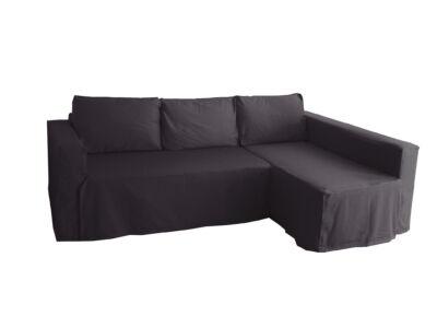 Manstad kanapé huzat jobb oldali ágyneműtartóval - sötétszürke