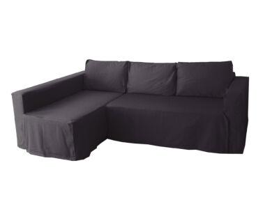 Manstad kanapé huzat bal oldali ágyneműtartóval - sötétszürke
