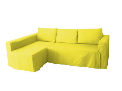 Manstad kanapé huzat bal oldali ágyneműtartóval - citromsárga