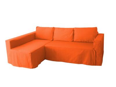 Manstad kanapé huzat bal oldali ágyneműtartóval - élénk narancs