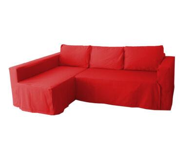 Manstad kanapé huzat bal oldali ágyneműtartóval - piros