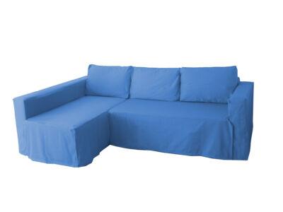 Manstad kanapé huzat bal oldali ágyneműtartóval - tengerkék