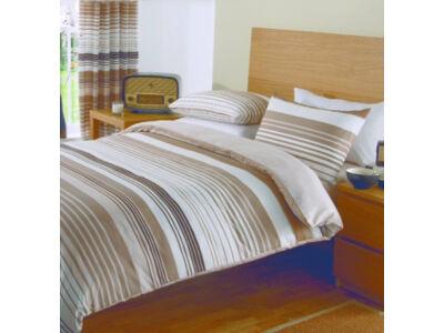 Pille pamutszatén ágyneműhuzat (egyszemélyes) - Brown Striped
